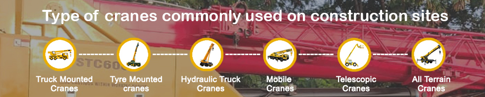 Type of cranes are commonly used on construction sites