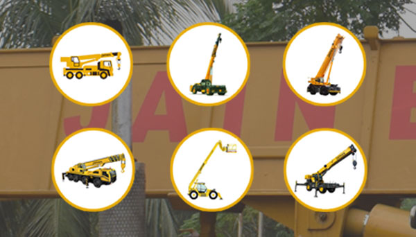 Type of cranes used on construction sites